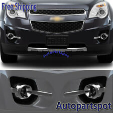 Brand New Pair Fog Lights Bumper Lamps Set Clear Fits 15-16 Chevy Equinox CV785