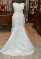 Pearl & Crystal Strapless Mermaid Bridal Gown/ Wedding Dress by Jasmine- Size 12