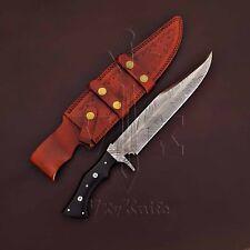 Hecho a mano cuchillo machete caza De Acero Damasco Mango Micarta VK2083