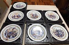 Set of 7 Henri D'Arceau Limoges Collector Porcelain Plates