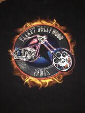 Mens XL Planet Hollywood Paris Motorcycle Notre Dame Shirt