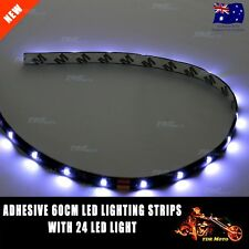 1x 60cm White LEDs Lighting Strip SMD Car 24 Interior Door Trunk Waterproof OZ
