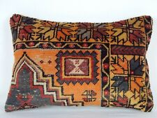 HANDMADE TURKISH CARPET CUSHION 16'' X 24'' ANTIQUE OUSHAK LUMBAR PILLOW COVER