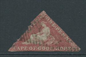 CAPE OF GOOD HOPE 1858 SG5b 1d deep rose-red wmk up used space-filler . Cat 375