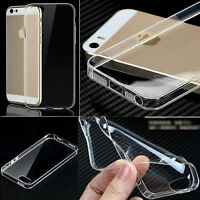 Ultra SlimThin Clear Transparent Gel Silicone Case Cover for Apple iPhone Models