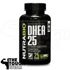 NUTRABIO - DHEA 25mg 500caps - Testosterone Booster - Increases Muscle Strength