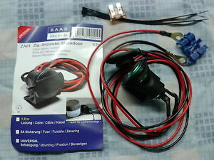 Vespa GTS GTV PX Lambretta 12v Auxillary Power Plug Sat Nav Phone Charger