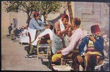 TURKEY ~ 1900's CONSTANTINOPLE ~ TURKISH BARBER SHOP ~ SHAVE ~ OUTDOORS
