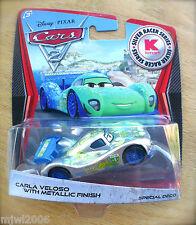 Disney PIXAR Cars 2 SILVER RACER SERIES Kmart CARLA VELOSO METALLIC FINISH DAY 8