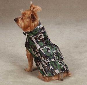 CAMO LOOK  DOG RAIN COAT JACKET PET WATERPROOF RAINCOAT RAINY DAY CAMOUFLAGE