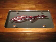 Baja boats/license plate/Chrome & Red acrylic inlay