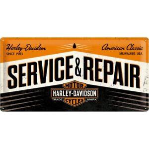 Metal Sign Large Harley Davidson Repair Manual Workshop, Nostalgia 50 CM New