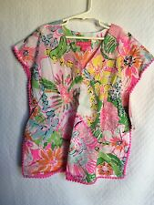 New Lilly Pulitzer Target Girls Swim Bathing Suit Cover Sz 5T Pink Nosey Posey