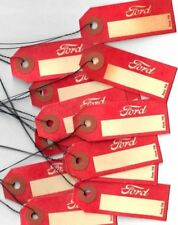 Lot of 25 1930's era Ford car parts id tags NOS W aging & Wire Tie Old Original