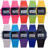 Men Women Kids Electronic Digital Multifunction Plastic Sports Wrist Watch Child