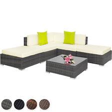 Alu Poly Rattan Sitzgruppe Lounge Rattanmöbel Gartenmöbel Couch Tisch Set