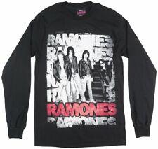THE RAMONES PUNK BAND LONG SLEEVE SHIRT MENS BLACK GRUNGE ROCK MUSIC TOP