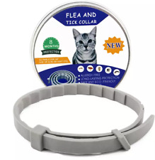 Flea & Tick Collar for Cats Small Dog 3pk. (Lasts 8 Months) All Natural (Small)