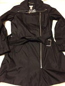 NWOT Cache black trench moto jacket S nice!
