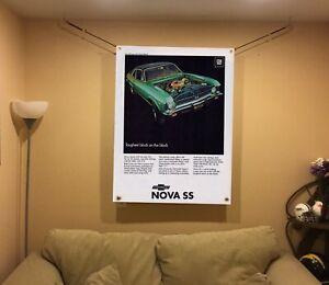 BIG! 43x32 Chevy NOVA SS vinyl Banner POSTER Muscle Car Art GTO 1969 Chevelle