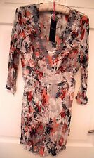 M&S Per Una Ladies Crinkle Tunic/Top with Camisole  Size 8 BNWT