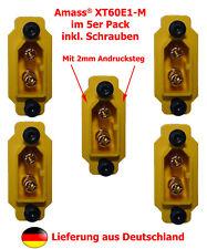 5er Pack XT-60 Einbaustecker AMASS® XT60E1-M für Gehäusemontage inkl. Schrauben