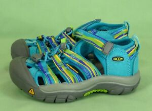 313 NEW KEEN Girl Blue/ Lime Green shoes Sandals  NWOB Size 10 (euro 28)