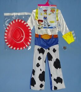 Disney Toy Story Jessie Costume-Girls 4-6-Cowgirl Jumpsuit-Hat-Bonus Gift-LOT-3