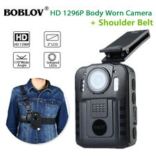 HD1296P Security Police Body Worn Camera Recorder W / Shoulder Belt Chest Strap