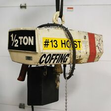 Coffing EC-1032-3 1/2 Ton Hoist. 20 ft. chain lift. 230/460 volts 3-phase - USED