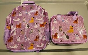 Disney Store Dogs (Patch Lady Dug Bolt) Backpack Insulated Lunch Box Bag Set NWT