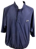 FootJoy Mens Shirt Size Large Fitted Collarless Salem Golf Club Navy Blue (N