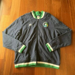 Umbro 'New York Cosmos' Full Zip Soccer Track Jacket Men's 2XL Large Green MLS
