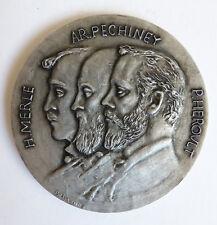 Médaille en aluminium signé BELMONDO pour PECHINEY 1855-1955