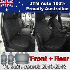 Premium Black PU Leather Waterproof Seat Covers for VOLKSWAGEN Amarok 2010-2018