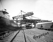Photograph Vintage Hulett Ore Steamship Loading Machine (William Mack) 1905c
