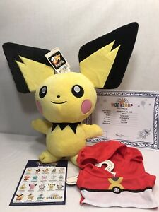 Build-A-Bear  Exclusive POKEMON  Pichu with Sound and Sleeper  New