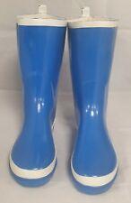 Femmes Taille 7 Bleu Brillant Wellington Bottes Extérieur Imperméable Hiver W10