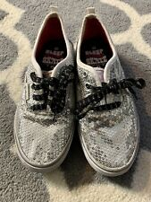 Airspeed Silver Sequins Sneakers Girls 4 Canvas Skate Cheer Tennis Shoes Sparkle
