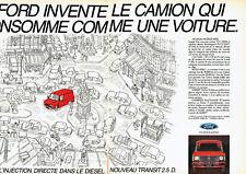 Publicité Advertising 028  1984   nouveau Ford Transit 2.5d (2p) fourgon *