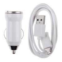 Universal Cargador Mechero Coche usb + Cable Micro para Samsung iPhone HTC Nokia