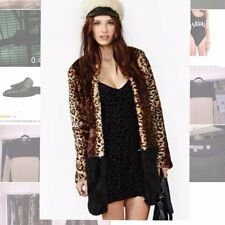SOLD OUT NastyGal Faux-Fur Cheetah Coat Celebrity Glamorous NWT