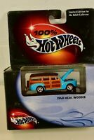 NEW OLD STOCK HOT WHEELS COLLECTIBLES 1948 MERC WOODIE - 1:64TH SCALE W/ CASE