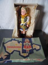 Vintage Poupée Ceskoslovensko Lidova Tvorba Uhersky Brod Old Doll en boite 1975