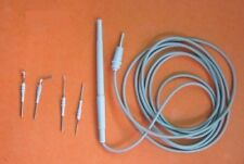 Valley Lab type Surgical Monopolar Active Chuck Handle Cautery & 4 Electrodes