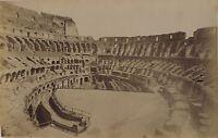 Italia Roma Interno Colosseo Foto Vintage Albumina Ca 1880
