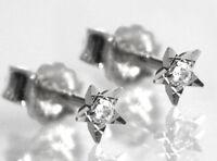 925 ECHT SILBER *** Ohrstecker Ohrringe Zirkonia Stern diamantiert 4 mm