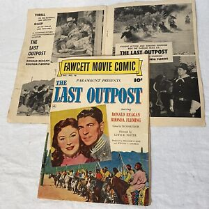 The LAST OUTPOST 1951 Fawcett Movie Comic No. 14 1951 RONALD REAGAN w/ 2nd cover