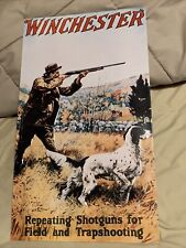 """Winchester rifle vintage ad 16"""" x 9"""" reproduction metal sign 1993 Olin Corp"""