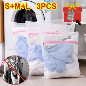 3pcs Zipped Laundry Washing Mesh Net Bra Sox Underwear Washing Machine Wash Bags